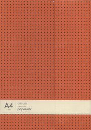 Zeszyt A4 Paper-oh Circulo w linie 56 kartek Orange on Grey,